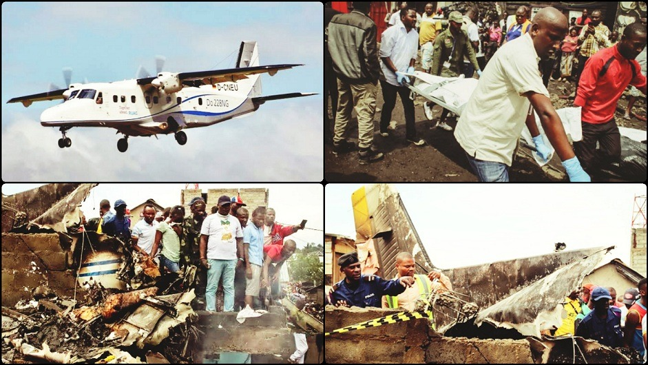 DR Congo Plane Crashes Into Homes Kills All Passengers On-board