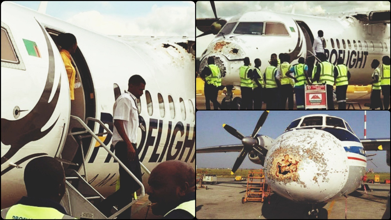 Zambia Hero Pilot Successfully Lands Plane Damaged In Hailstorm
