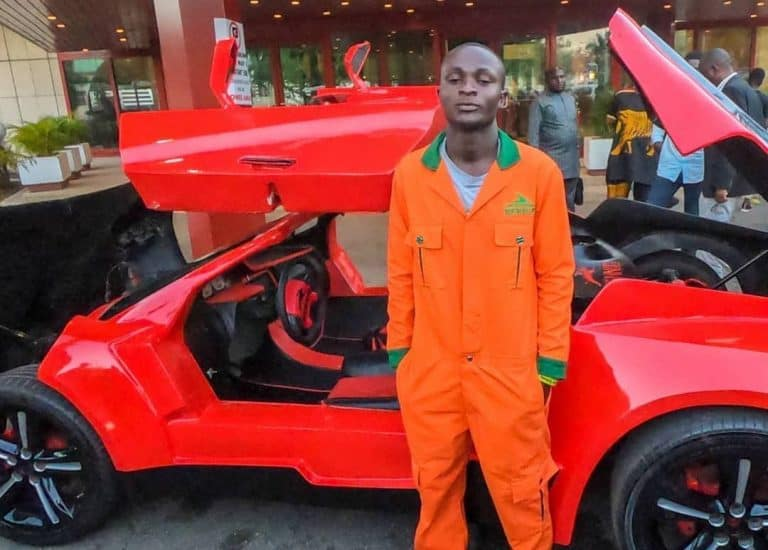 25-Year-Old Invents First Nigerian Made Fiber Sports Car
