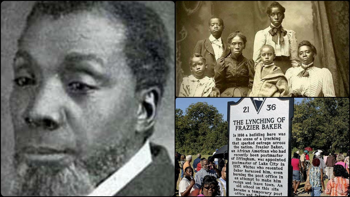 How White Mob Killed Frazier Baker With His Baby Girl & Burnt His House In 1898
