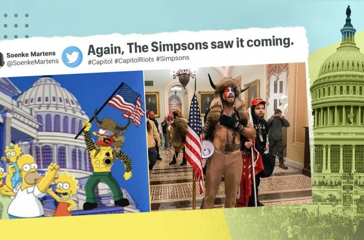 Video Images Show That The Simpsons May Have Predicted US Capitol Violence