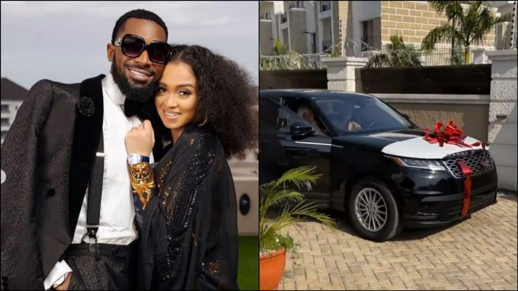 Dbanj Surprises His Wife with Range Rover Velar As gift For Valentines Day