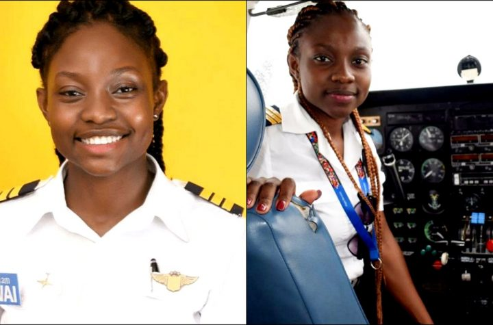 21-Year Old Beautiful Ghanaian Lady Becomes Youngest Female Commercial Pilot