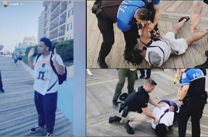 White Cops Tase Black Teen With His Hands Up, Knees Another Already Pinned To The Ground