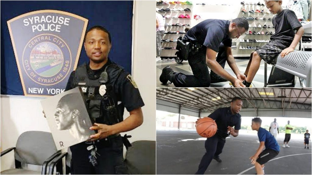 7 White Officers Take 'Hateful Steps' To Stop Promotion Of Black Officer Who Went Viral for Working with Neighborhood Kids