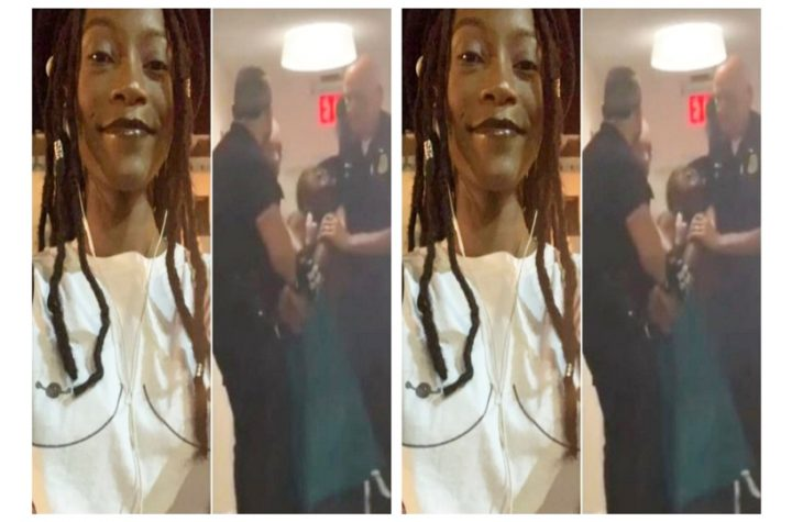 Anger As 7 Police Officers Drag A Black Female Student Of American University From Her Hostel