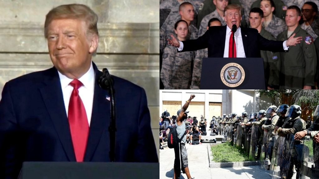 Trump Expresses Regret Over Not Deploying U.S. Military Onto BLM Protesters During Protests After George Floyd's Murder