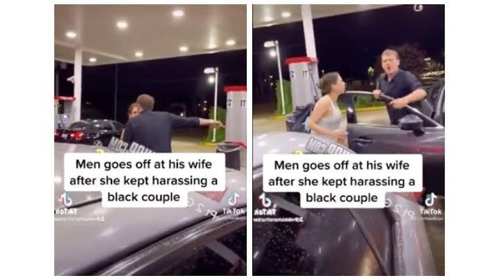 Footage Of White Man Scolding His Wife For Racially Abusing a Black Couple Goes Viral
