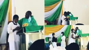 Ghana Priest Caught Kissing Female Students During Church Service Sparks Anger