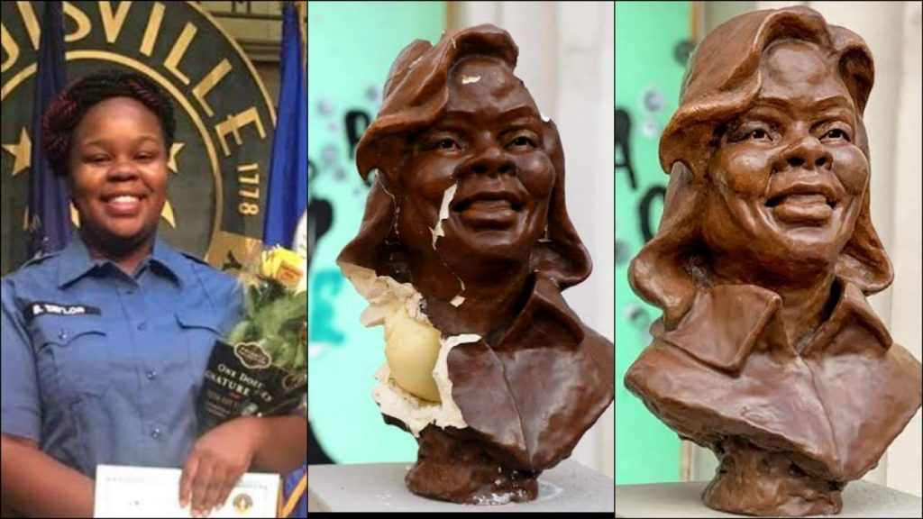 Racists Have Vandalized The Bust Of Breonna Taylor In Downtown Oakland Only Two Weeks After Installation