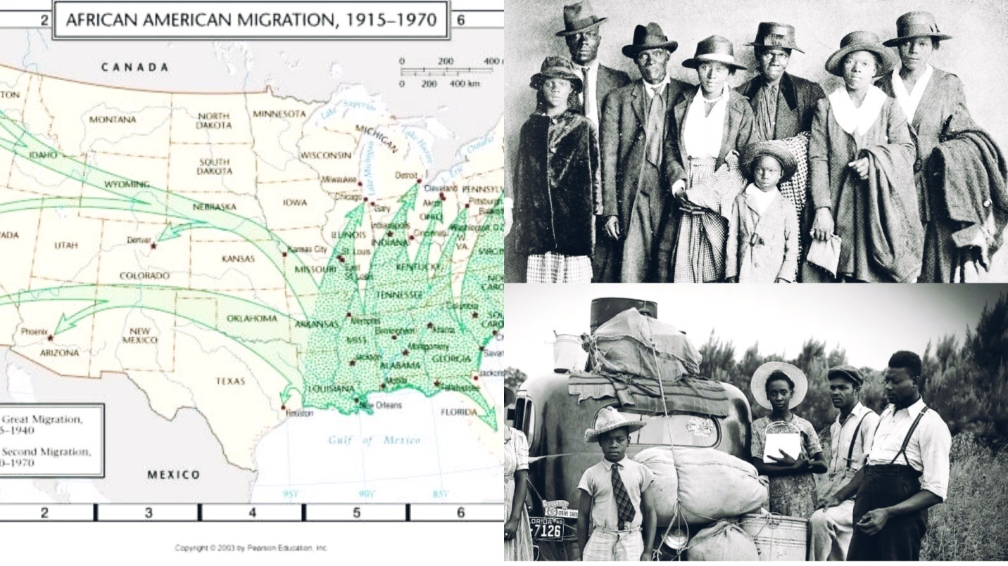 The Great Migration Of 6 Million African Americans From The Racist South Of The US Between 1916 and 1970