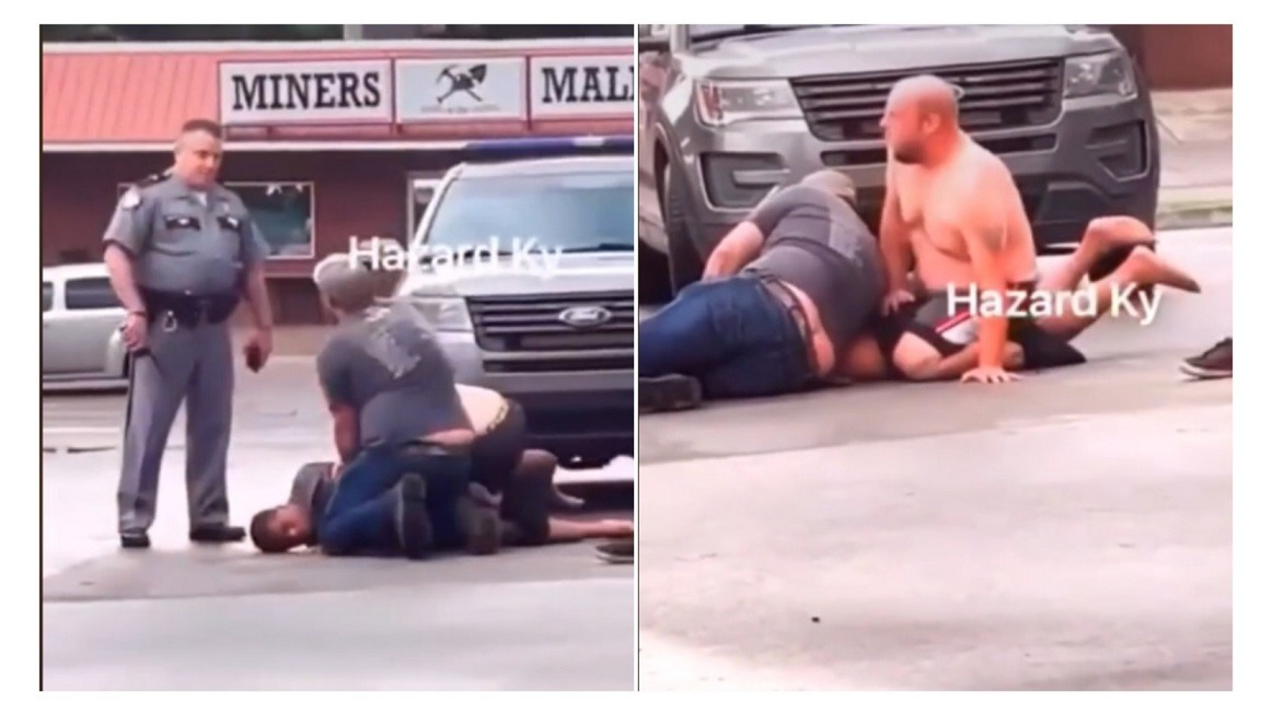 Viral Video Shows Two White Men Attacking A Black Man While White Cop Watches In Kentucky