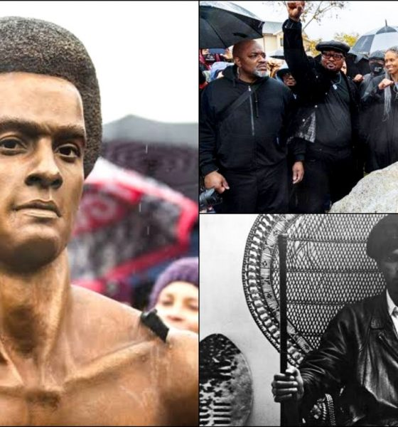Oakland Unveils Huey Newtons Bust to Mark 55th Anniversary of Black Panthers Founding